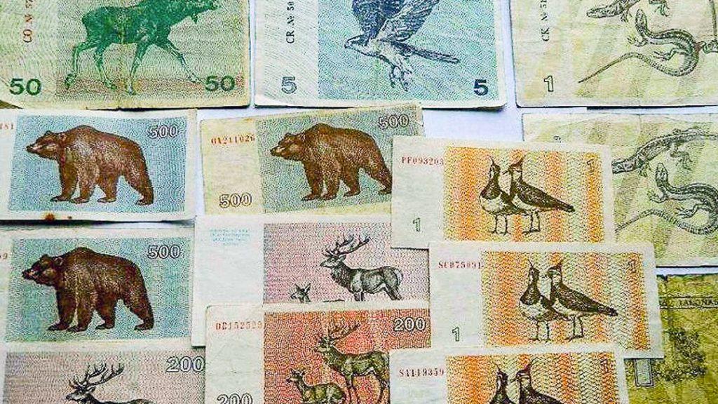 Литовские банкноты, которые существовали до введения литов и евро