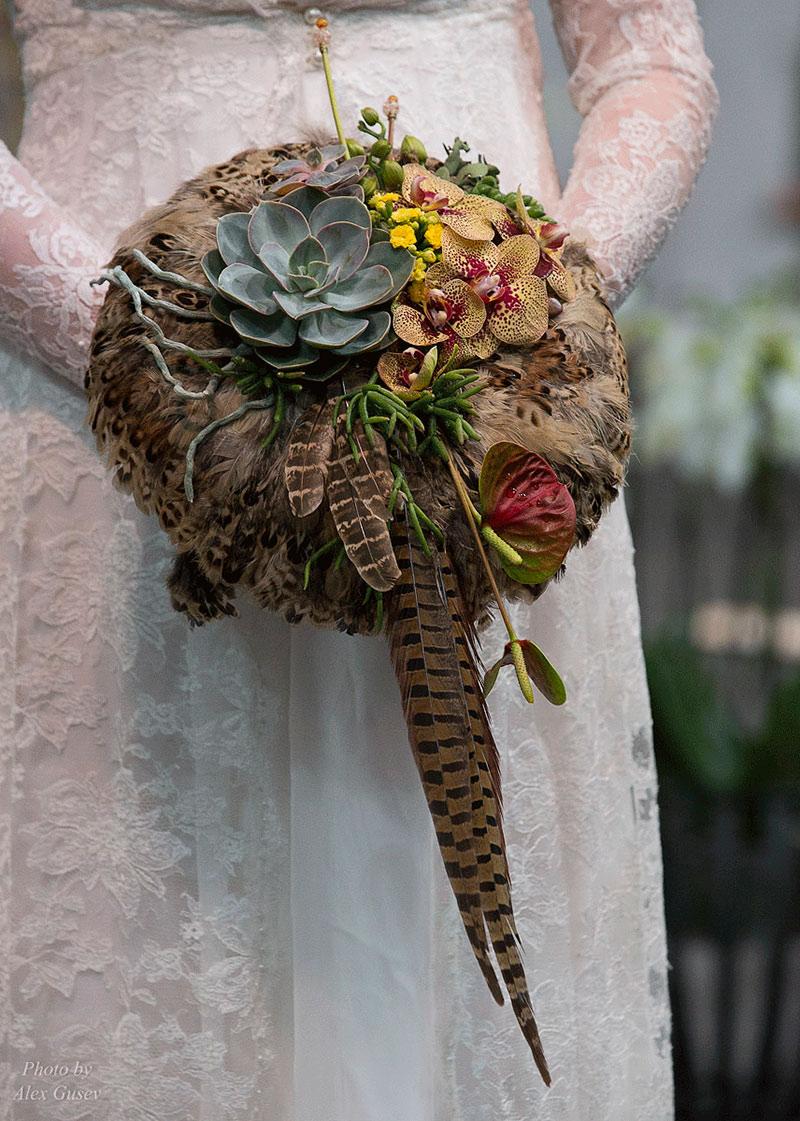 Рижский показ свадебных букетов.